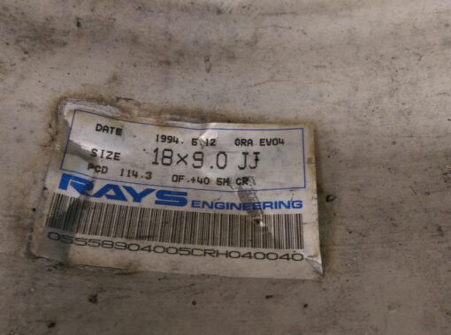 RAYS VOLK  EVOLUTION 4 FORGED Lightweight  8.3Kg 18x9j +40 5x114.3 CB:73 x2» JDM-PARTS.co.nz
