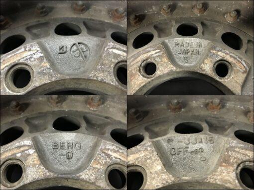 BRIDGESTONE BERG D Type 3 piece With Center Caps 15X8.5J -33 6x139.7 CB:108 x4» JDM-PARTS.co.nz