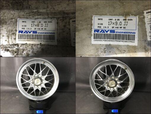RAYS VOLK RACING Gr-A Evol-4 FORGED 17x8j / 9j +45 4x114.3 5x114.3 CB:73 x4» JDM-PARTS.co.nz