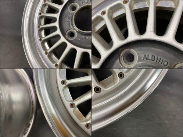 WEDS ALBINO FINS FORGED 3 piece 14x6j +17 4x114.3 CB:72 x2