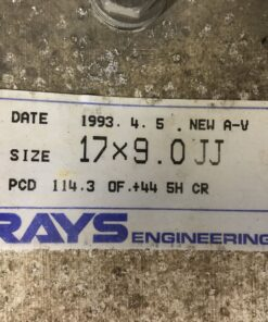 RAYS VOLK RACING GROUP AV 2 piece 17x8j +44  / 17x9j +44 5x114.3 CB:73 x4
