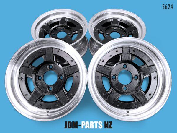 TOPY JMW Cross-5 Step Lip 3 piece 14x6.5J +4 4x114.3 CB:75 x4