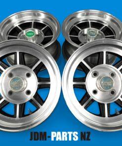 HAYASHI RACING STREET wL With Caps 14x6j +7 / 7j  -6 Negative 4x114.3 CB:72 x4