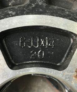 DUNLOP TOPY WHEEL with Original Caps 14x6j +20 4x114.3 CB:72 x4