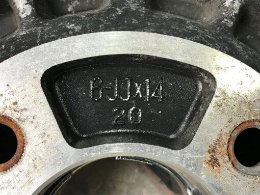 DUNLOP TOPY WHEEL with Original Caps 14x6j +20 4x114.3 CB:72 x4» JDM-PARTS.co.nz