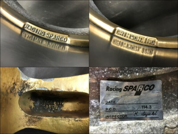 CRIMSON RACING SPARCO - NT 16x7j +35 / 16x8j +38 4x114.3 CB:70 x4