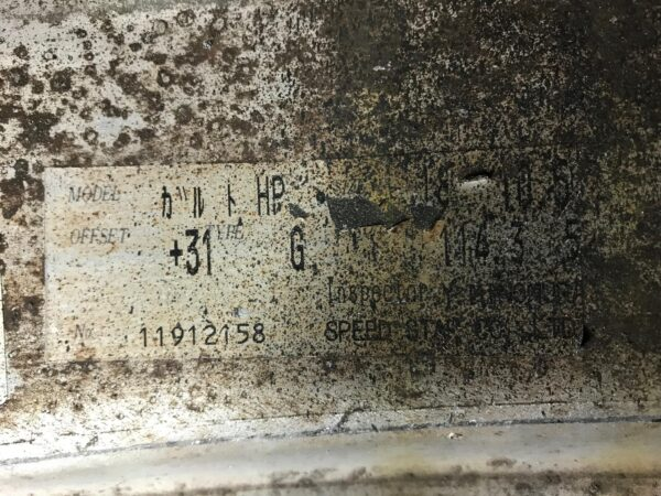 SSR SPEED STAR GARTMAIER 3 piece 18x10.5j +31 5x114.3 CB:73 x2