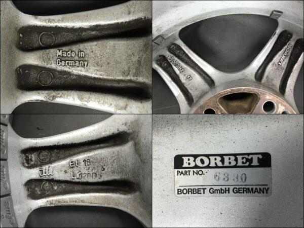 BORBET Type E 15x7j +18 5x120 CB:73 x4