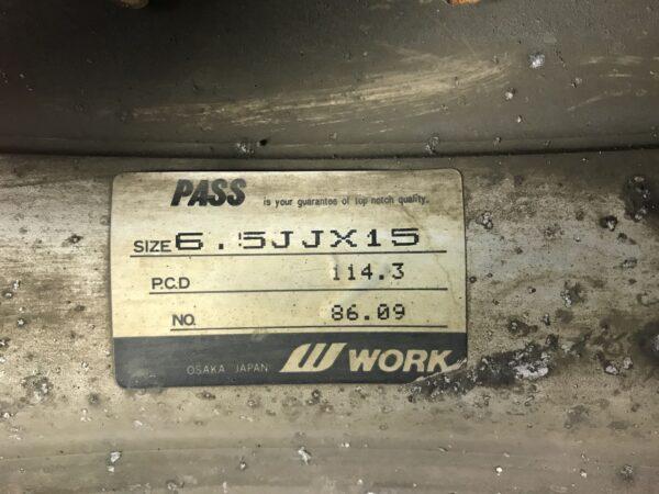 WORK EWING 2 FINS 3 piece 15x6.5j +17 4x114.3 CB:72 x4