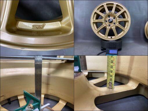 BBS RV724 SUBARU WRX GDB STI GOLD FORGED 17x8j +53 5x114.3 CB:56 x4» JDM-PARTS.co.nz