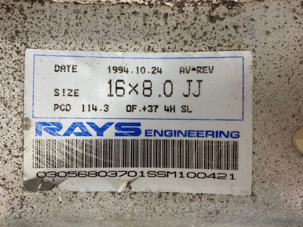 RAYS VOLK Gr.AV REVOLUTION FORGED  7.6Kg 16x8j +37 4x114.3 CB:72 x2