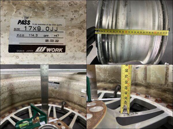 WORK REZAX L MESH DDC LIPS FORGED 3 piece 17x8j / 17x9j +47 5x114.3 CB:73 x4