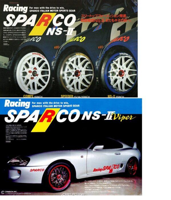 CRIMSON RACING SPARCO NS2 16x7j +35 / 16x8j +38 5x114.3 CB:73 x4