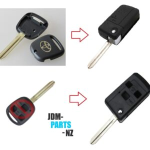 FLIP TYPE KEY SHELL FOR TOYOTA Side 1 Buttons / 2 Buttons / 3 Buttons Remote Key