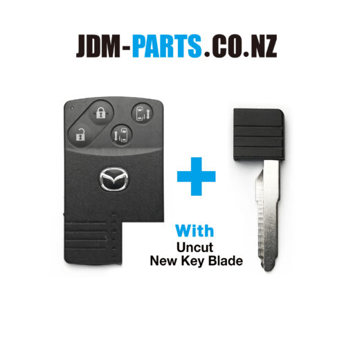 MAZDA Genuine SMART KEY CARD 4Buttons With New Uncut Blade» JDM-PARTS.co.nz