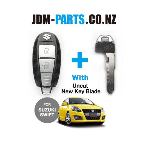 SUZUKI SWIFT Genuine SMART KEY 2 BUTTONS TS007 With New Uncut Blade» JDM-PARTS.co.nz