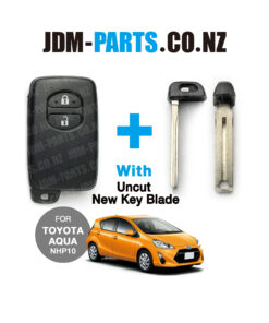 TOYOTA AQUA NHP10 Genuine SMART Remote KEY 2 Buttons 315Mhz With New Uncut Blade