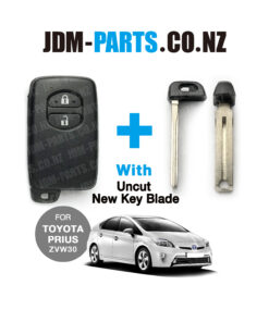 TOYOTA PRIUS ZVW30 Genuine SMART Remote KEY 2 Buttons With New Uncut Blade