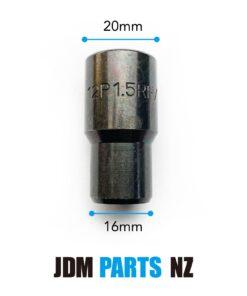 Sparco or RAYS Volk Inverted Tuner Shank Wheel Lug nuts M12XP1.5 BLACK