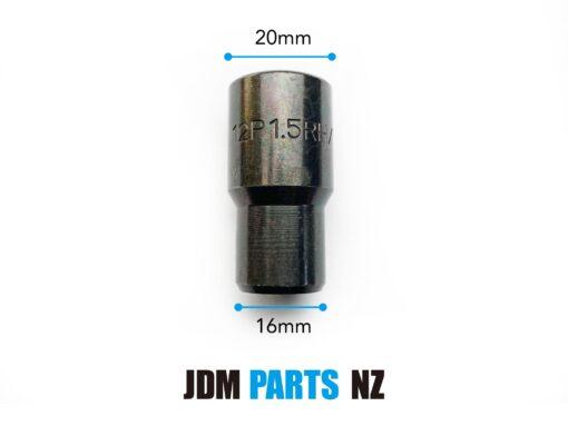 Sparco or RAYS Volk Inverted Tuner Shank Wheel Lug nuts M12XP1.5 BLACK» JDM-PARTS.co.nz