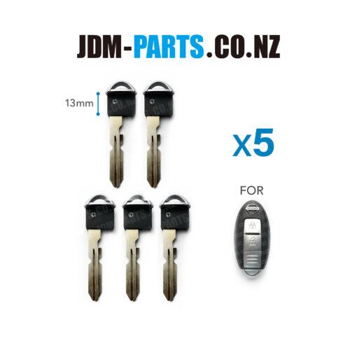 NISSAN SMART Remote KEY Emergency Key Blade NSN14R 13mm Short» JDM-PARTS.co.nz